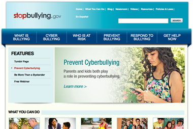 Relaunching StopBullying.gov